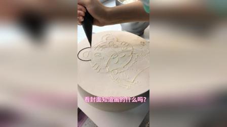 又一款12生肖之老虎蛋糕, 画的不好大家勿喷哈, 好久没上热门了