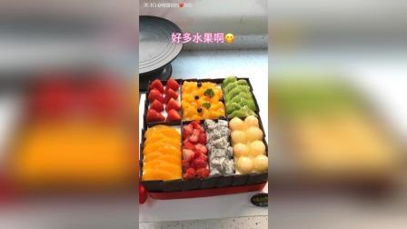 美拍视频: 水果盒子蛋糕#美食#