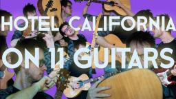 【吉他】一人十一役! 十一把吉他演奏传奇歌曲《HOTEL CALIFORNIA》|Casper Esmann