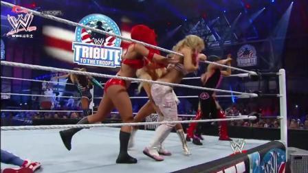 wwe2008皇家大战 WWE-2018女子皇家大战 5v5对决 发疯起来就是恶魔