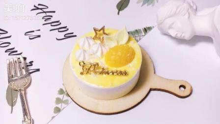 明亮芒果黄少女心手工粘土蛋糕制作教程