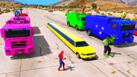 迪士尼之汽车总动员 超级英雄开加长林肯大货车特技表演