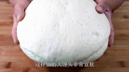 懒人必备大馒头教程, 1斤面只做一个, 出锅宣软蓬松, 全家老少都说好吃