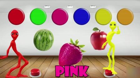益智: 英语启蒙, 帮西瓜苹果等果蔬涂颜色, 外星人与蓝莓橙子跳舞 (2)