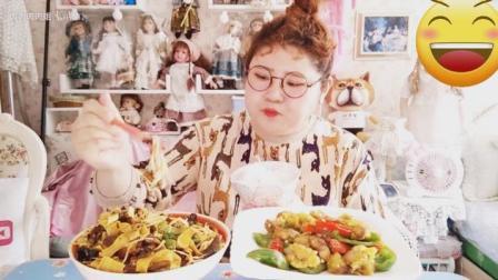大胃王肉肉姐吃溜肉段, 色香味俱全, 会做菜的女人真美
