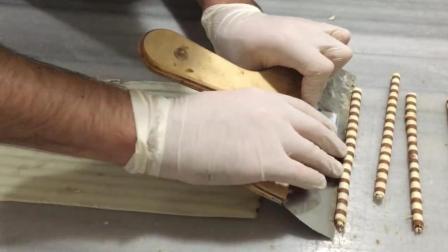 巧克力快要被玩坏了, 但是看着超治愈, 巧克力棒的制作过程分享