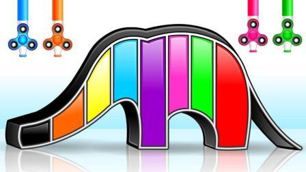 拼接彩色大象玩具学彩色