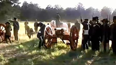 美军用大炮炸了再进攻, 骑兵带着步兵一路进