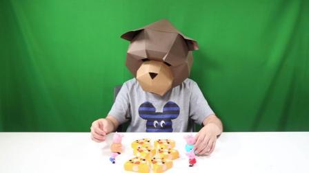 小猪佩奇第4季 小猪佩奇玩具之佩奇乔治一起来拆披萨小猪佩奇