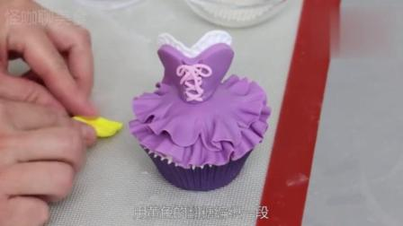 手把手教你做好看的翻糖蛋糕, 这样小裙子蛋糕我一口气吃了20个!