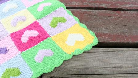 雅馨绣坊毯子编织视频:心型毯子的编织方法最新织法编织教案
