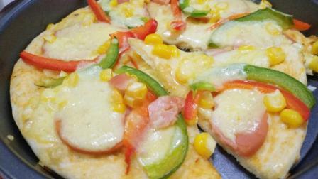 6寸薄底火腿披萨, 特薄饼底, 美味挡不住啊!