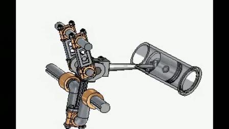 神奇的机械原理,这是一个曲柄连杆发动机,你看懂了吗