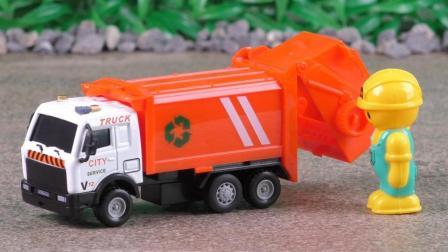 垃圾车玩具大全: 垃圾车工作工程车合金汽车玩具车定格动画