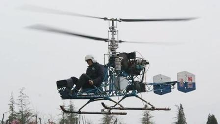 中国六旬大爷花60万, 自学造出一架直升机, 专业度获专家肯定