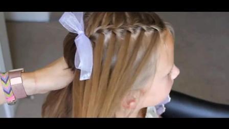 简洁款儿童编发 不论是长发还是短发都很漂亮