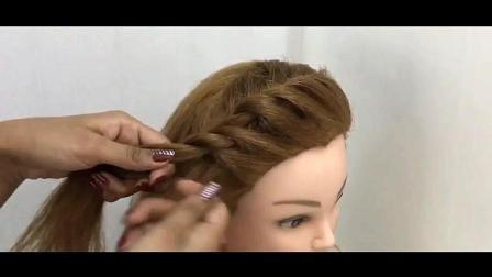 仅用一字夹, 不借助刘海造型工具, 一样能整出漂亮的刘海编发发型
