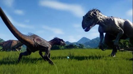 侏罗纪世界进化34狂迅猛龙VS狂暴龙
