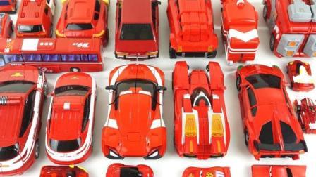 工程汽车组合拼装变形机器人玩具