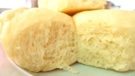 教你用电饭锅做面包, 一次发酵, 不用黄油和揉出手膜, 又松又软