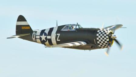 二战时美国产量最高的战机, 共18个气缸, 应急马力可达2300匹