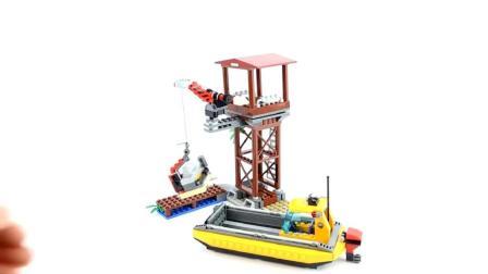 乐高积木丛林世界玩具, 搭建气垫船吉普车一起丛林探险