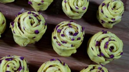 紫薯花卷最简单做法, 和面不用一滴水, 健康营养, 一顿5个不够吃