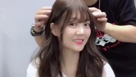 抖音上最近很火的发型 可斜分可刘海 简称万能刘海 女神小清新随时变换