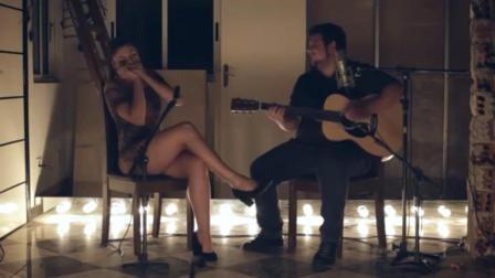 布鲁斯口琴和吉他绝配, 这姑娘的口琴蓝调味道十足