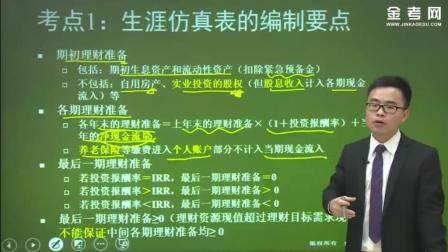 金考网校cfp国际金融理财师综合案例分析之生涯仿真表的编制要点