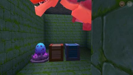 迷你世界: 发现一个黑龙守护的龙蛋地牢, 怎么有一个蓝色的箱子
