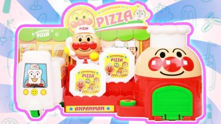 趣盒子玩具 第一季 面包超人神奇外卖披萨店玩具分享 ANPANMAN知育玩具