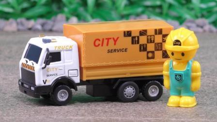 卡车货车工程车厢式货车合金汽车玩具定格动画