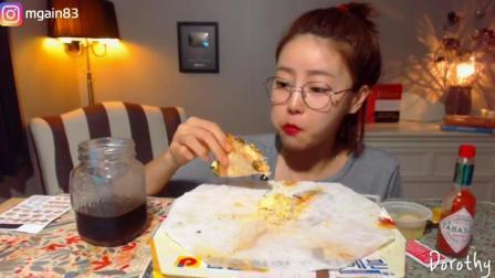 【韩国吃播】【Dorothy】Dorothy吃播 -披萨