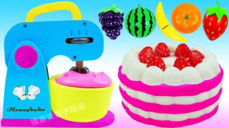 神奇的微波炉变身草莓奶油蛋糕, 比起蛋糕冰淇淋你更喜欢哪个?