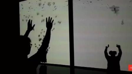 放飞信鸽-体感互动投影-火米案例