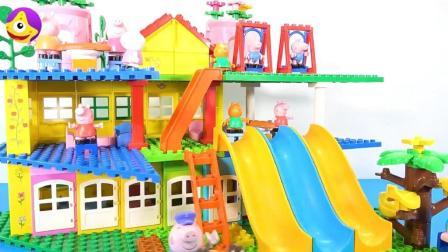 小猪佩奇欢乐游乐园, 小朋友们在游乐园里和小猪佩奇一起玩滑滑梯