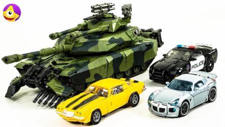 变形金刚汽车人帅气跑车霸天虎炫酷坦克, 帅气机器人玩具