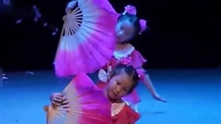 少儿舞蹈《春晓》幼儿扇子舞文艺表演