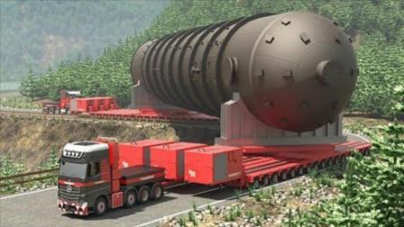 大型货车运输700多吨巨型管道, 技术惊为天人, 司机年薪百万都难请