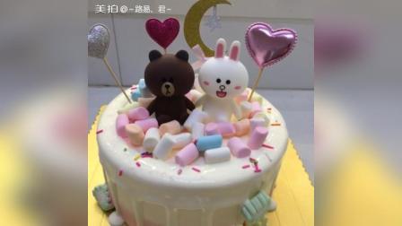 肯尼兔与布朗熊#路易卡通蛋糕##路易卡通蛋糕合集#9420