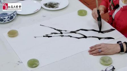 画牡丹的枝干原来有这么多讲究! 难怪总画不好……