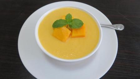 夏季芒果奶昔的家常简单做法, 好看又好吃, 招待客人倍有面子