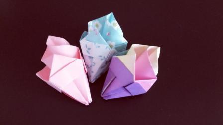 教你折纸甜美可爱的冰淇淋, 做法简单关键漂亮, 小朋友都喜欢