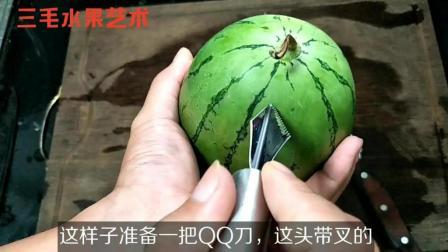 水果师手把手教你西瓜的4种切法, 秒会! 4种都特别简单