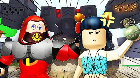 【屌德斯&小熙】 Roblox旅游巴士模拟器 超人总动员大战巨型战争机器人!