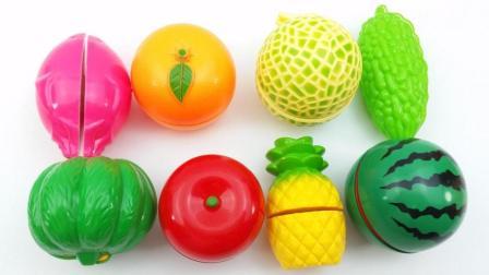 玩具蔬菜水果 早教认知南瓜西瓜和火龙果