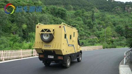 新星依维柯房车穿行在山间, 全地形越野房车, 走哪儿都不怕!
