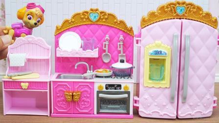 彩泥迷你厨房玩具做饭玩具