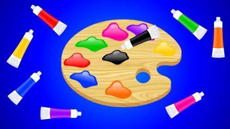 画图填色玩具认识彩色